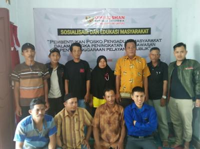 Ombudsman Lampung Bersama Masyarakat Pesawaran Bentuk Posko Gerilya