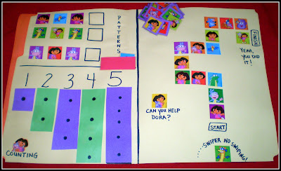 Dora File Folder Games