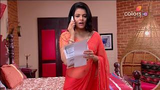 Jigyasa Singh from Thapki Pyaar Ki in Orange Transparent Saree (7).jpg