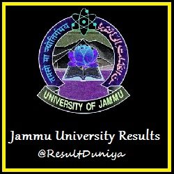Jammu University BA BCA BSc BBA BCom Part 1 Result 2015