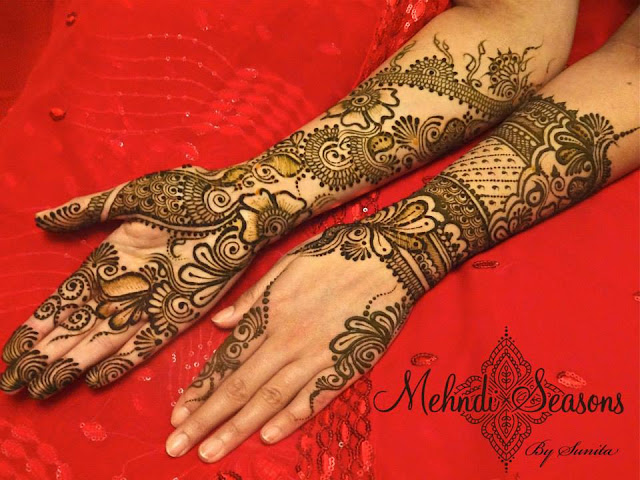 Smart Mehndi Designs For Dulhan