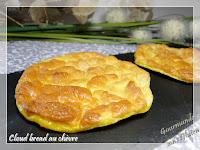 Cloud bread au chèvre, une recette de pain sans farine