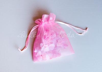 Confetti en bolsa de organza