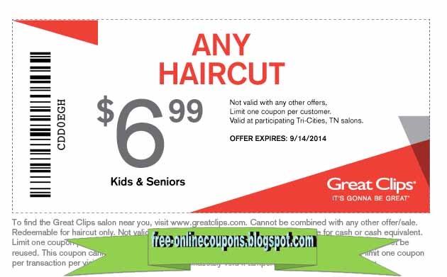 Where Can You Find Printable Great Clips Coupons Online? In addition to all the coupon sites you'll find when you search Bing or Google you should begin your search on the Great Clips Website itself. Just visit the Great Clips Promotions page and you'll find their latest deals and offers. Like many retailers Great Clips is now offering an email list you can join so they send you news and special deals.