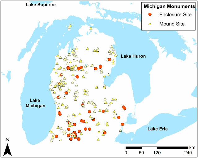 New insights on Great Lakes pre-European monuments