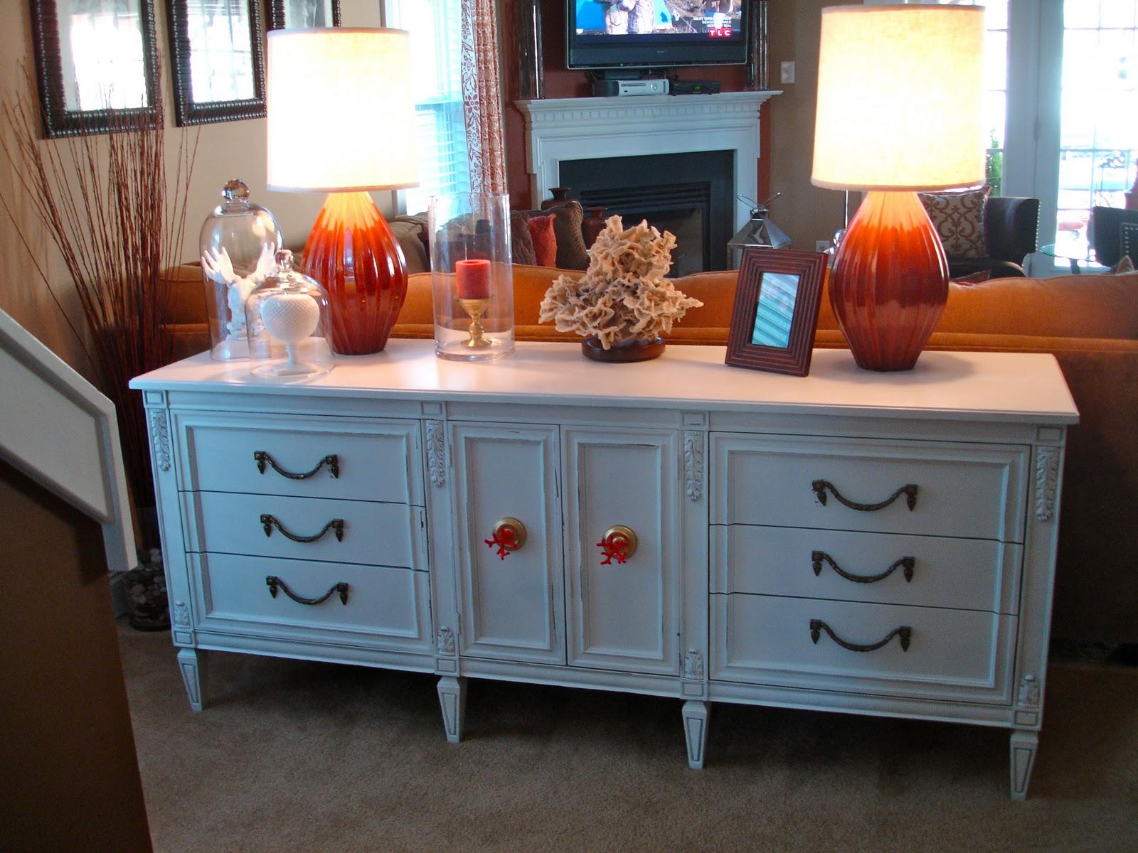Amazing Grays: Navy, Herringbone Dresser for Living Room
