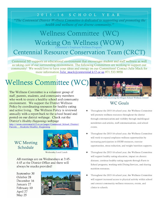 Centennial Healthy Happenings