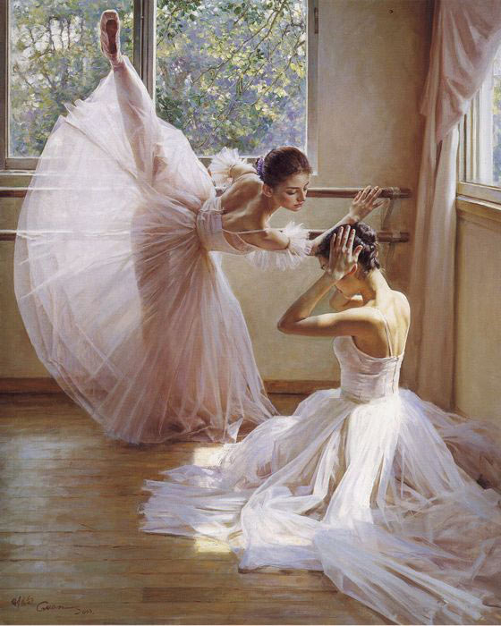O Ballet chinês pintador por Guan Zeju