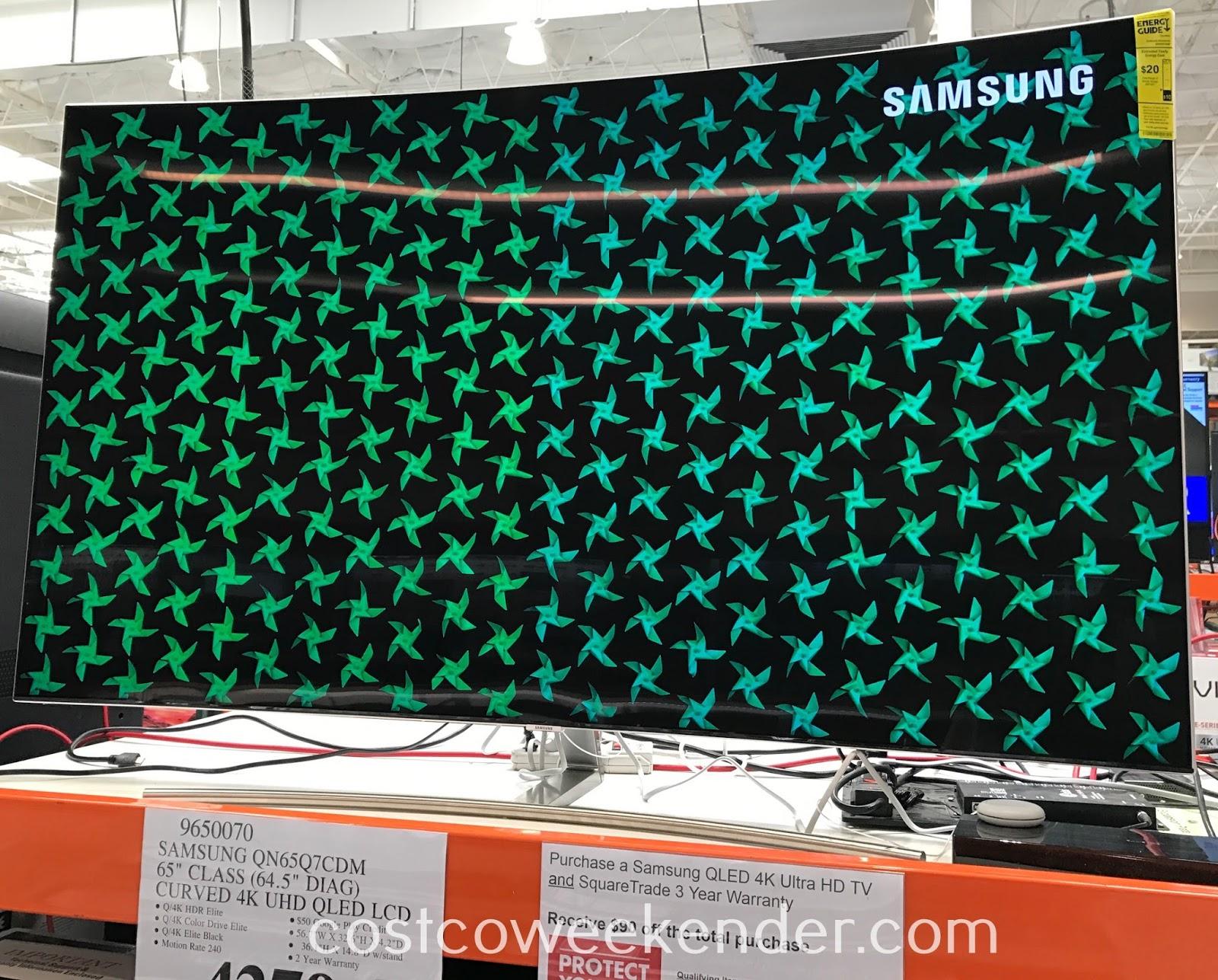 "Samsung QN65Q7CDM 65"" Curved 4K UHD QLED TV | Costco Weekender"