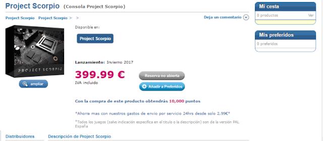 Xtralife pone precio a Project Scorpio, ¿400 euros?