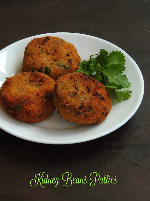 Kidney beans cutlet, Rajma patties, Rajma Cutlet