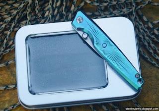 CH Knife mini titanium fame-lock folder