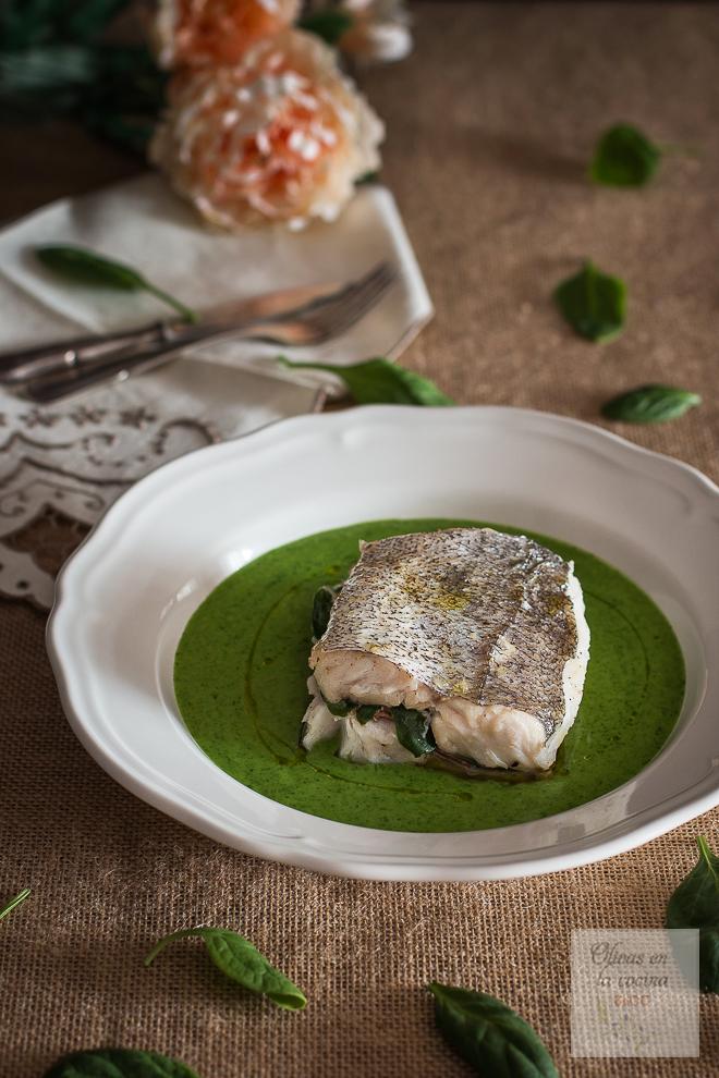 Merluza rellena con salsa verde Hnos. Torres