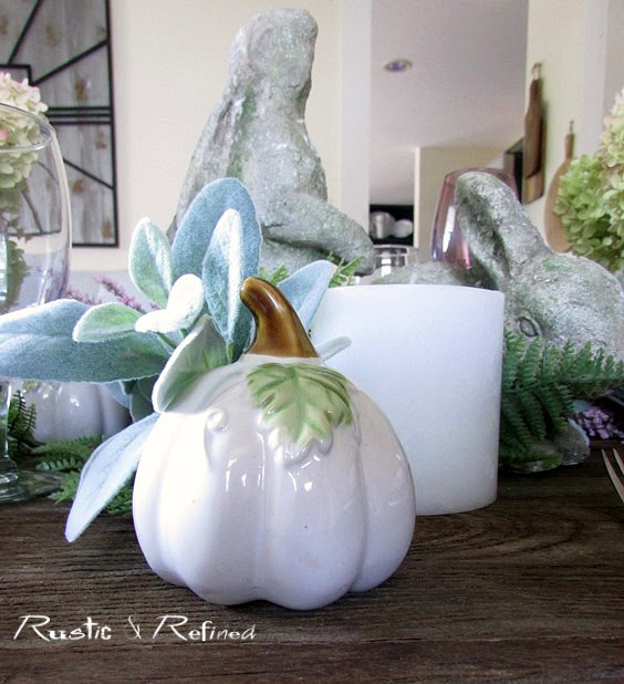 Setting the dinner table for Fall Entertaining.