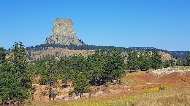 Devils Tower beckons visitors in Wyoming...