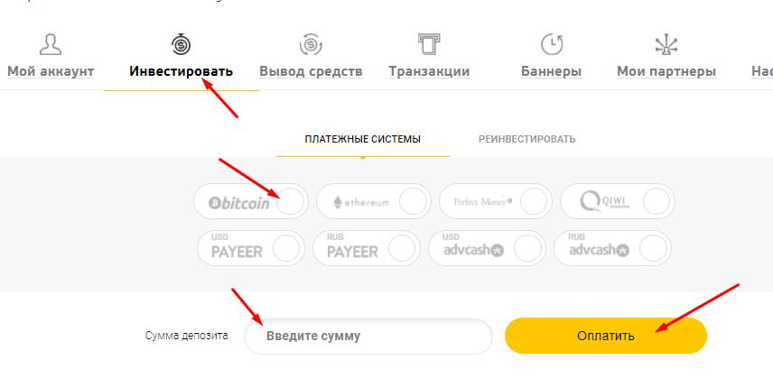 Регистрация в Hit Coin Trade 3