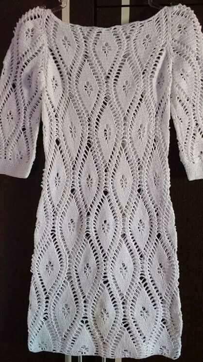 wzory sukienek szydelkiem