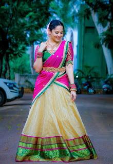 Telugu Television Actress Anasuya Latest Picture shoot In red lehenga Choli (4)
