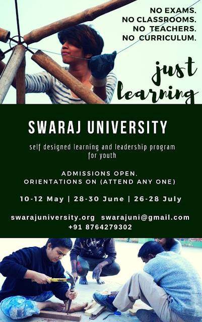 Swaraj University Admissions 2019-21 : Khojis, Udaipur