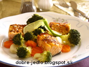 Šťavnatý losos so zeleninou - recept