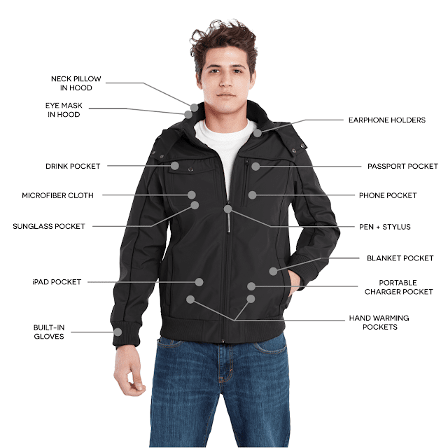 Cool travel jacket at Kickstarter