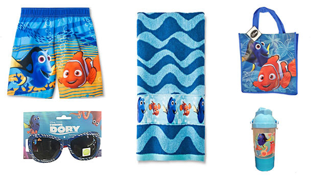 Water Bottle Plus Tote Bag Disney Toddler Boys Finding Dory Flip Flop Sandals