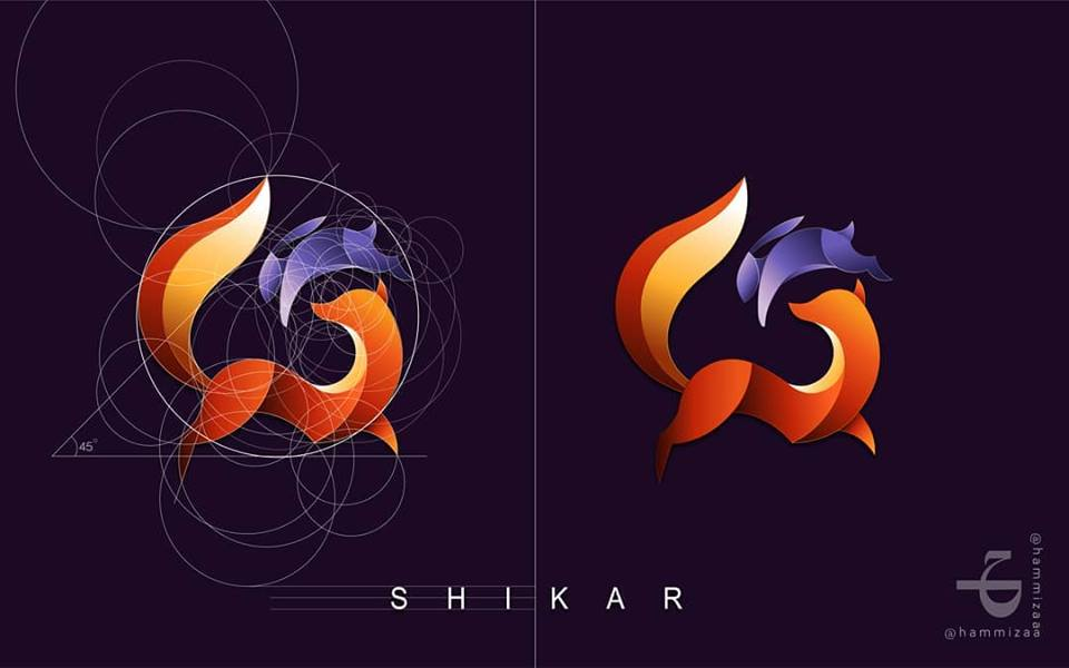 Amazing Logo Illustration works by Ħam Zaa Chaudhary