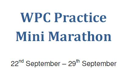 World Puzzle Championship 2013 Practice Mini Marathon