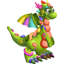 Appearance of Clay Dragon when teenager