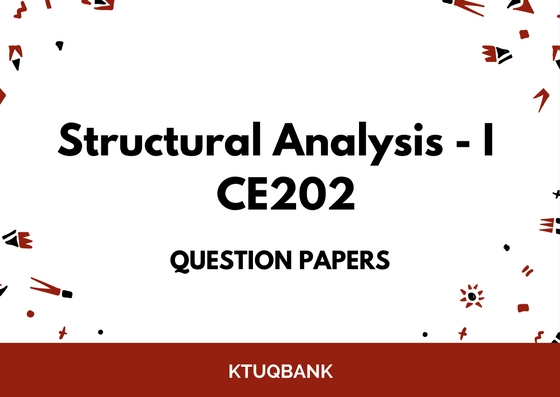 Structural Analysis – I | CE202 | Question Papers (2015 batch)