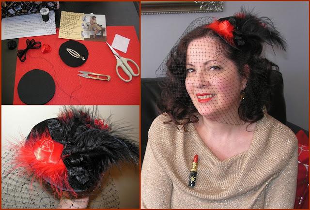 Atelier créatif de Miss Rouge à lèvres: Bibi à voilette
