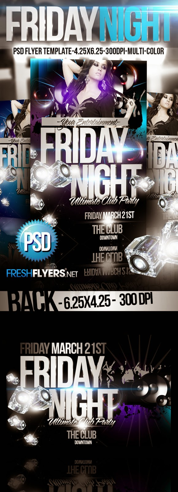 Free PSD Night Flyer Template