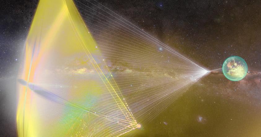 El rayo láser que transmitirá el sentir de la humanidad a los extraterrestres