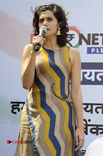 Actress Tapsee Panu Stills at Remonetise India Campaign in Chetna College Bandra West  0008.jpg