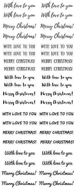 Woodland Christmas cards + free printable