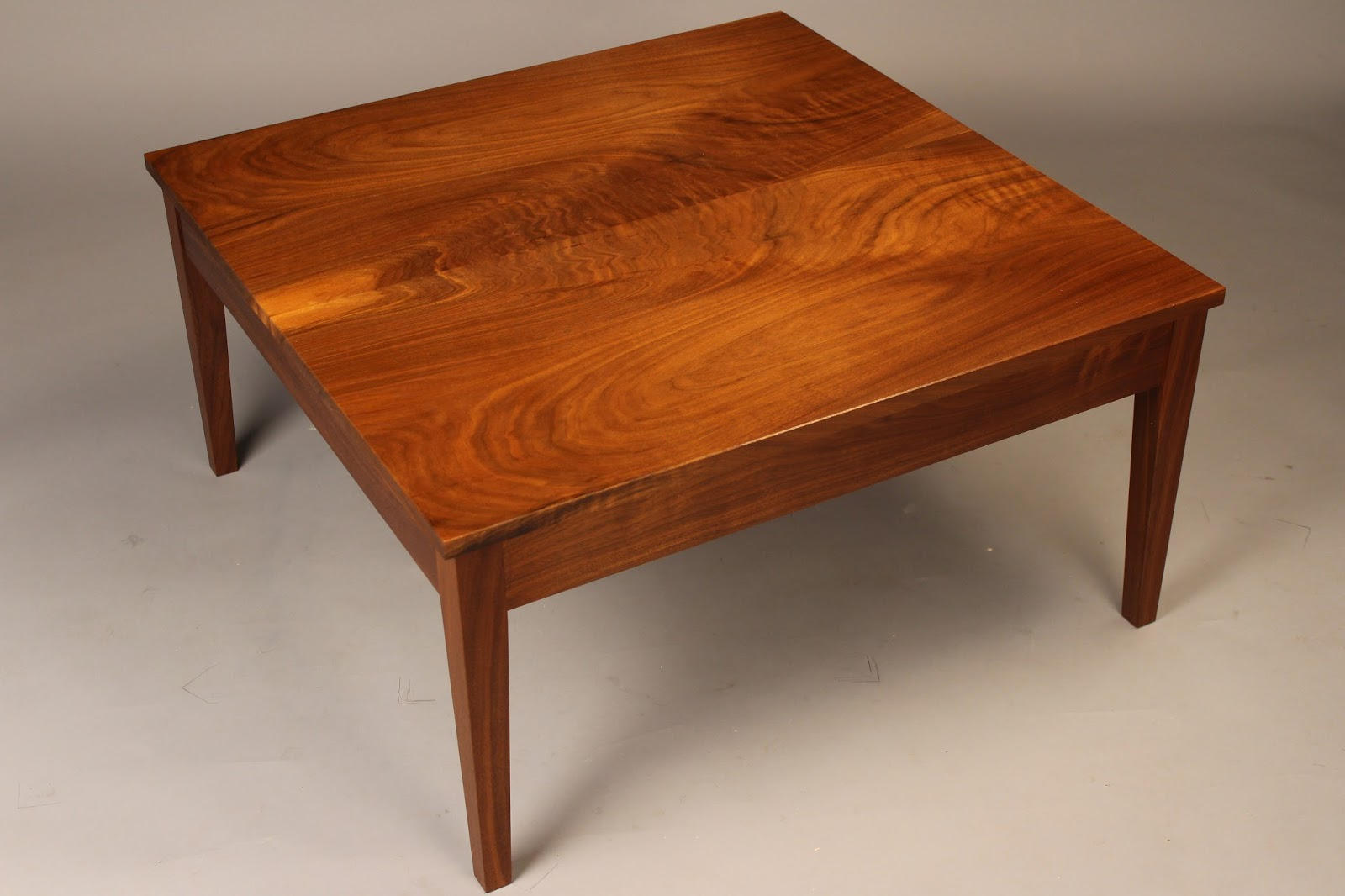 Custom Made Coffee Table Walnut Tiger Maple Cherry Mahogany