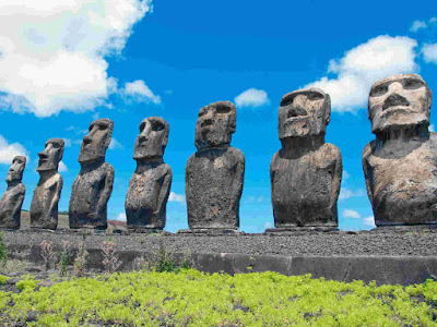 One of the Ahu (Ceremonial Platform or Altar) in Easter Island, Chile.