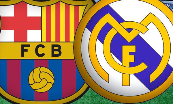 FC Barcelona vs Real Madrid logos