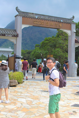 Renz Cheng in Ngong Ping Village, Big Buddha