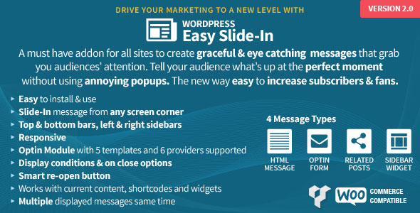 Free Download CodeCanyon Easy Slide-In V2.1 for WordPress Plugin
