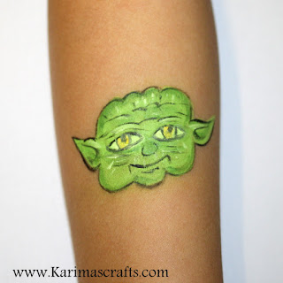 sci fi star wars dr who teenage mutant ninja turtles face painting yoda