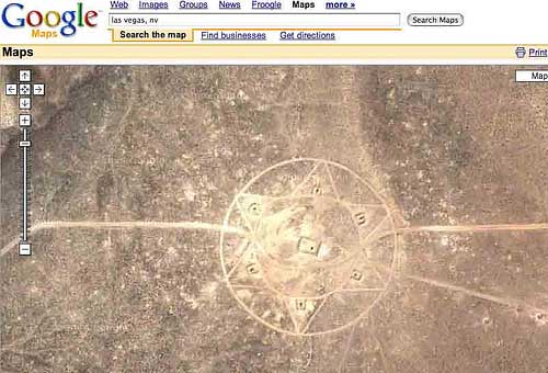 Star of David: Nevada Desert Google Maps Google Maps Nevada on are there volcanoes in nevada, henderson homes nevada, abandoned nevada, mapquest nevada, delamar nevada, google las vegas nevada, google state of nevada, indian springs nevada, stead nevada, bing maps nevada, beautiful nevada, spanish ranch nevada, google earth, detailed map nevada, lida nevada, aerial map nevada, mulberry woods nevada, google mexico, crop circle desert nevada, google street view elko nevada,