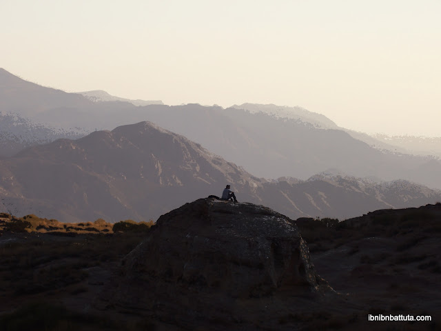 Andrew pondering life's mysteries at Dana Nature Reserve in Jordan. (Original photo by J. Ehresman)
