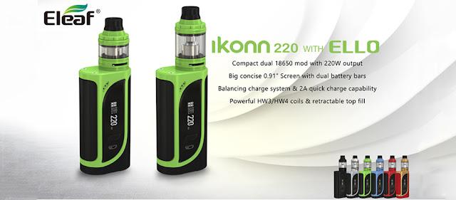 Eleaf Starter Kit - iKonn 220 Mod with ELLO Atomizer