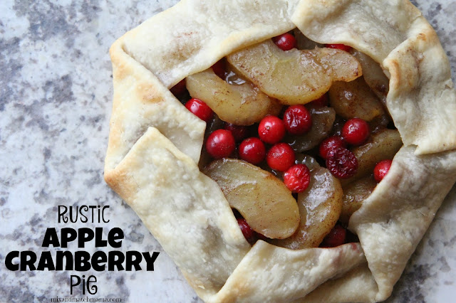 Rustic Apple Cranberry Pie