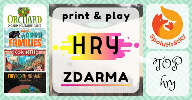 Zoznam print & play hier zdarma na blogu www.spoluhratky.eu