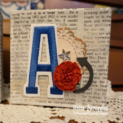 Mantle decor canvas blocks
