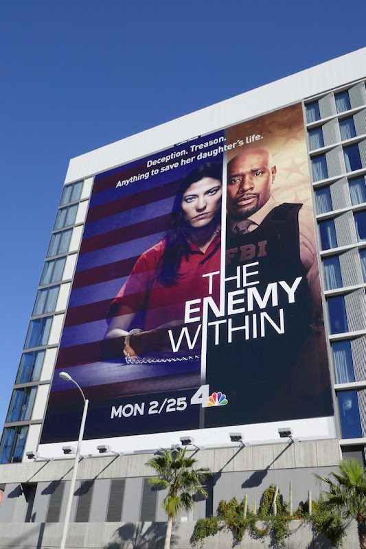 Enemy Within giant series premiere billboard