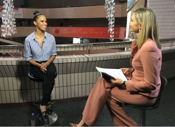 Misty Copeland talks with CNN's Anna Coren