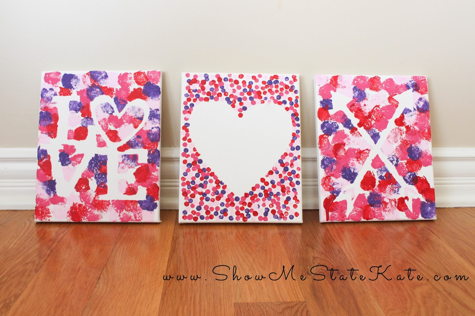 Show Me State Kate Valentine S Day Canvas Art For Kids Great Party Craft